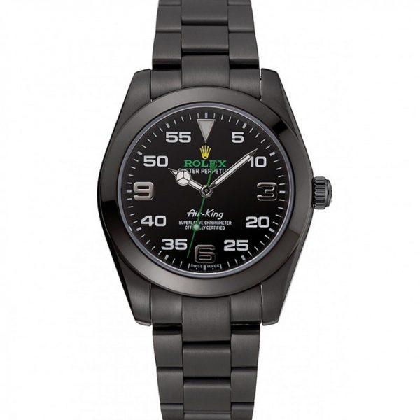 Rolex Air-king 1454019 Mens Stainless Steel Black Dail