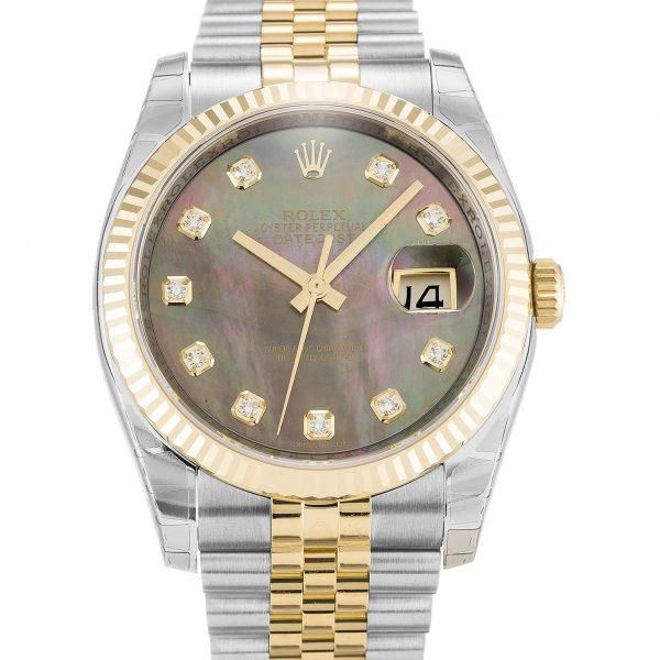 Rolex Datejust 116233 Unisex 36MM Black Diamond Dail