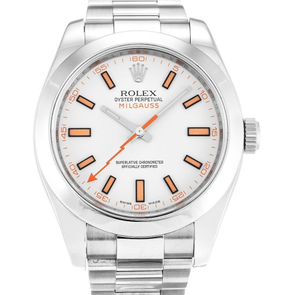 Rolex Milgauss 116400 Mens 40MM White Dail